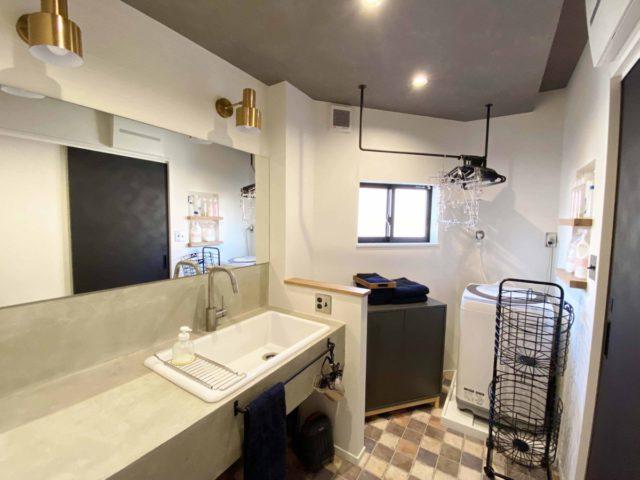 MPCを使った造作洗面。