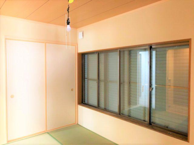 落ち着きのある和室空間。将来のことも考え、お風呂やトイレを近くに。